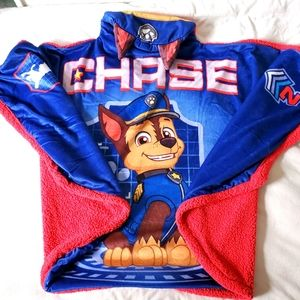 Kids hooded blanket chase Pawpatrol
